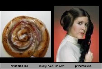 Princess Leia cinnamon roll hair