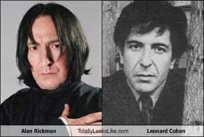 Alan Rickman Totally Looks Like Leonard Cohen