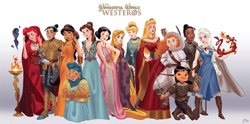 Fanart of the Day: Artist Reimagines Disney Princesses as Characters in 'Game of Thrones'