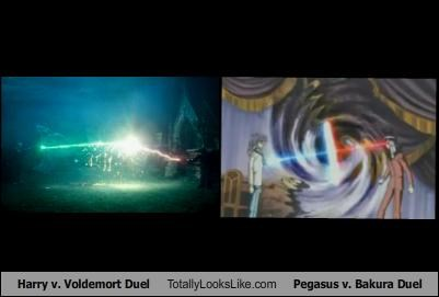 Harry v. Voldemort Duel Totally Looks Like Pegasus v. Bakura Duel