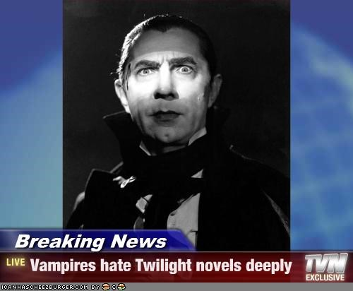 Breaking News - Vampires hate Twilight novels deeply