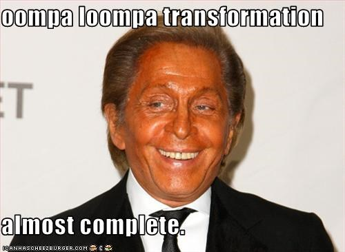 oompa loompa transformation  almost complete.