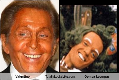 Valentino Totally Looks Like Oompa Loompas