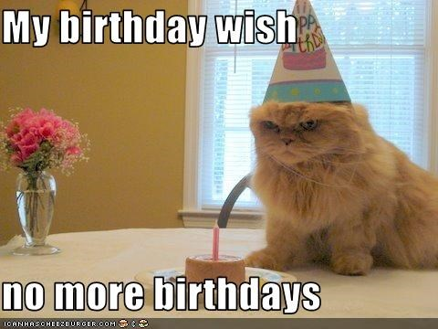 My birthday wish  no more birthdays