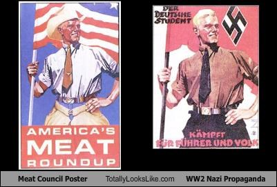 food,meat,nazis,poster,WWII