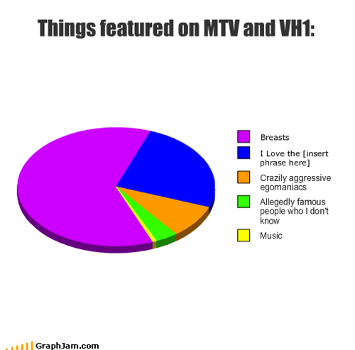 Things featured on MTV and VH1: