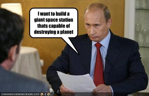I want to build a giant space station thats capable of destroying a planet