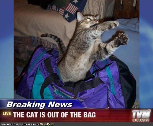 Breaking News - THE CAT IS OUT OF THE BAG