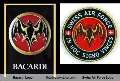 Bacardi Logo Totally Looks Like Swiss Air Force Logo