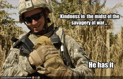 Kindness in  the midst of the savagery of war...