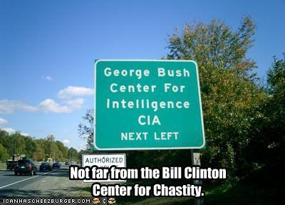 bill clinton,cia,democrats,dick jokes,george-hw-bush,president,Republicans,sex,signs,vice president