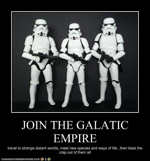 JOIN THE GALATIC EMPIRE