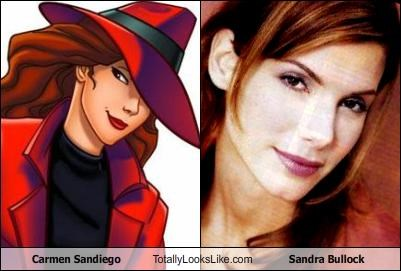 Carmen Sandiego Totally Looks Like Sandra Bullock
