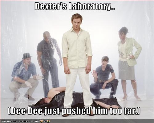 Dexter's Laboratory..  (Dee Dee just pushed him too far.)