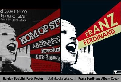 Belgian Socialist Party Poster Totally Looks Like Franz Ferdinand Album Cover