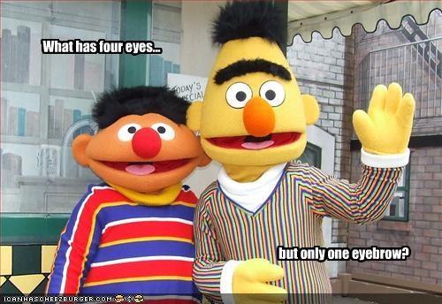 bert and ernie,eyebrows,jim henson,muppets,Sesame Street