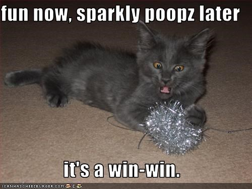 fun now, sparkly poopz later  it's a win-win.