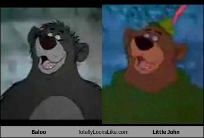 animation,cartoons,disney,little john,movies,robin hood,The jungle book