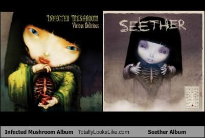 albums,cds,cover,infected mushroom,Music,pictures,seether