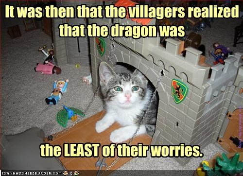 It was then that the villagers realized that the dragon was
