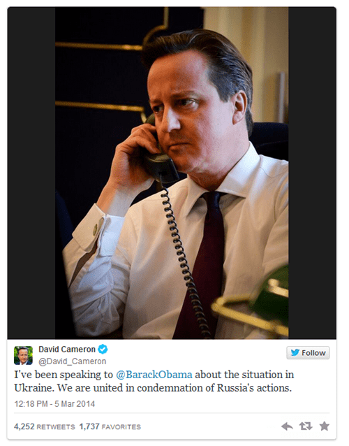 UK Prime Minister David Cameron Wanted to Have a Serious Conversation About the Ukraine With Barack Obama, the Internet Had Other Ideas
