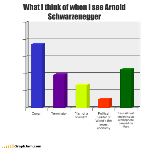 What I think of when I see Arnold Schwarzenegger