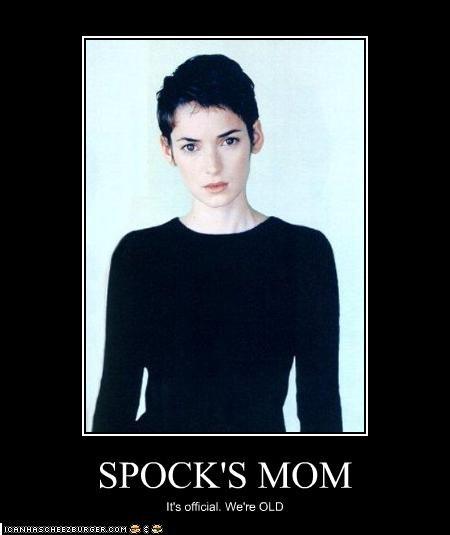 old,sci fi,Spock,Star Trek,winona ryder