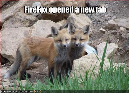 FireFox opened a new tab
