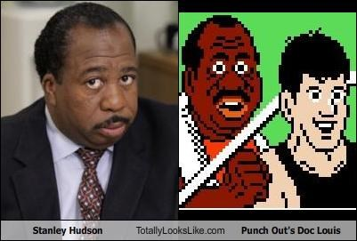 Stanley Hudson  Totally Looks Like Punch Out's Doc Louis