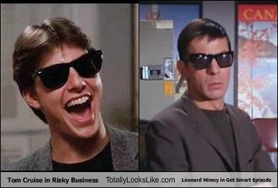 Tom Cruise in Risky Business Totally Looks Like Leonard Nimoy in Get Smart Episode