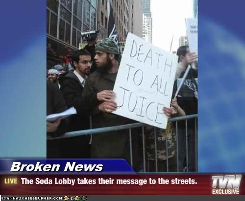 Broken News - The Soda Lobby takes their message to the streets.