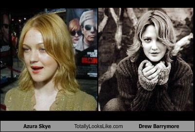 Azura Skye Totally Looks Like Drew Barrymore