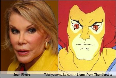 Lionel Thunder Cats on Joan Rivers Totally Looks Like Lionel From Thundercats