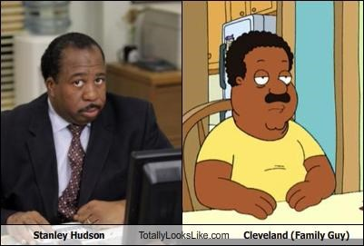 Stanley Hudson Totally Looks Like Cleveland (Family Guy)
