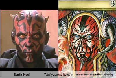 Darth Maul Totally Looks Like Johan from Magic the Gathering