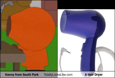 Kenny from South Park Totally Looks Like A Hair Dryer