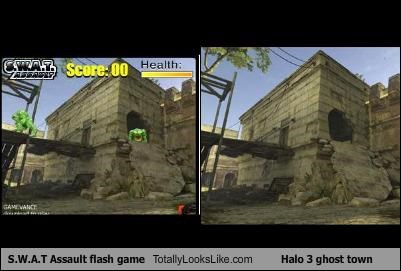 S.W.A.T Assault flash game Totally Looks Like Halo 3 ghost town