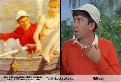 art,bob denver,gilligan,gilligans-island,painting,TV