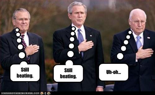 Dick Cheney,donald rumsfeld,george w bush,heart attack,president,Republicans,secretary of defense,vice president