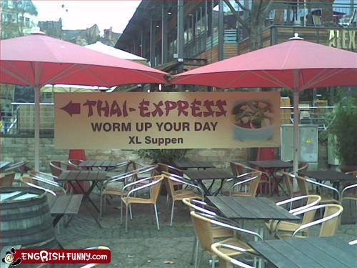 day,food,g rated,restaurant,Thai,worm