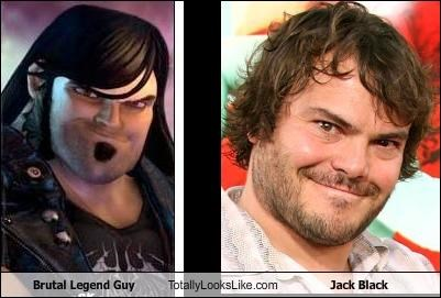 Brutal Legend Guy Totally Looks Like Jack Black