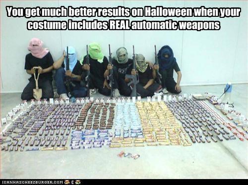 disguises,guns,halloween,weapons