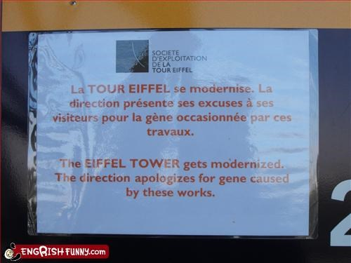 apologies,eiffel tower,gene,g rated,modern,mutation,signs,work