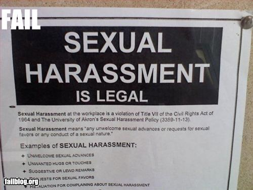 Sexual Harassment Poster Fail