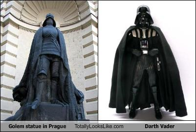 darth vader,golem,prague,star wars,statue