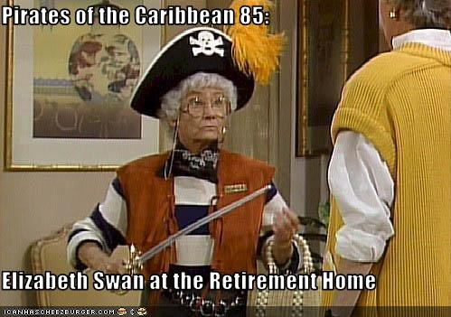 Pirates of the Caribbean 85:  Elizabeth Swan at the Retirement Home