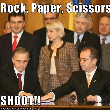 Rock, Paper, Scissors  SHOOT!!