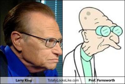 Larry King Totally Looks Like Prof. Farnsworth