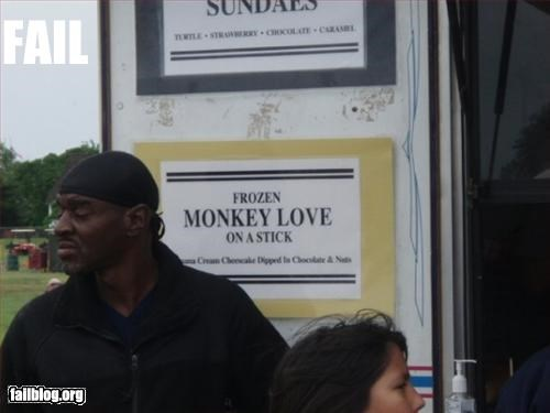 Frozen Monkey Love on a Stick
