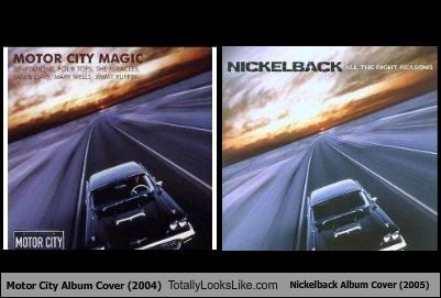Motor City Album Cover (2004) Totally Looks Like Nickelback Album Cover (2005)